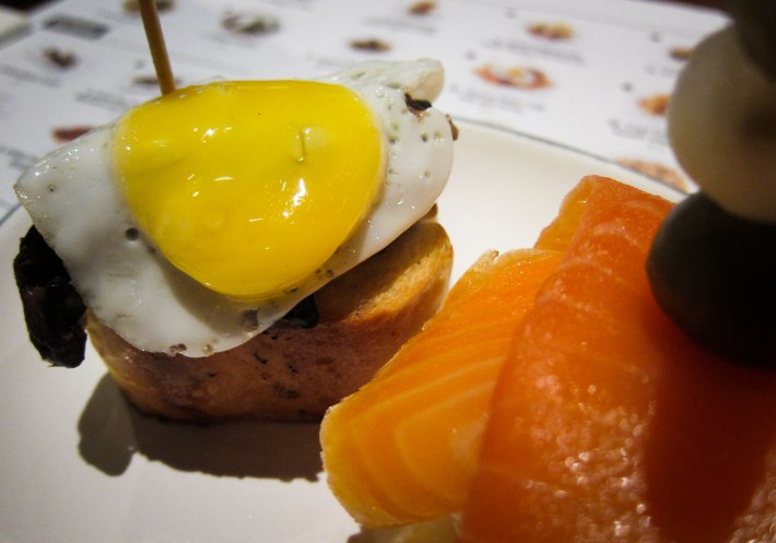 District 10 Sauteed Mushroom with Quail Egg