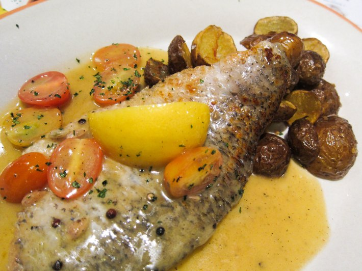 District 10 Roasted Seabass in lemon butter sauce