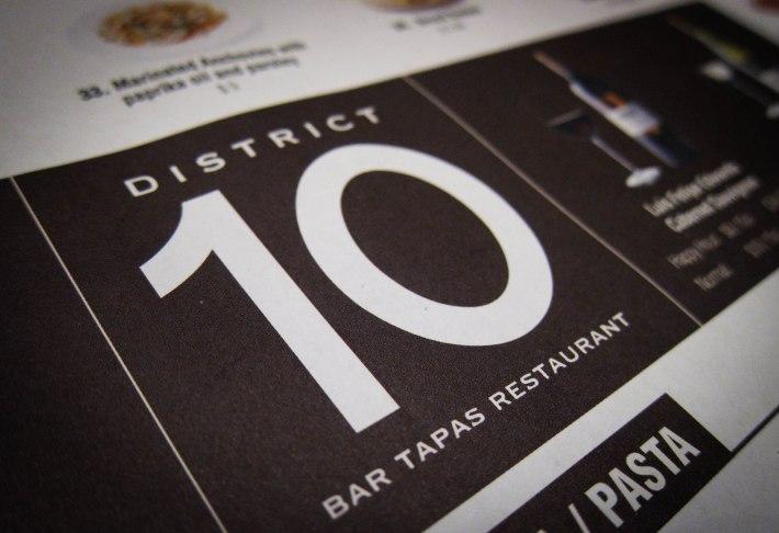 District 10 menu