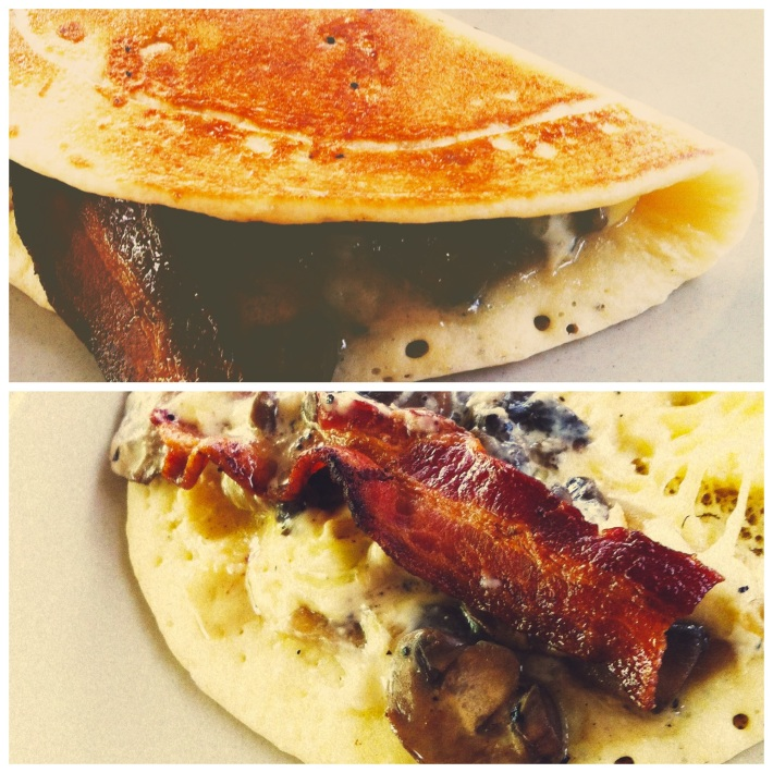 Humble Origins Mushroom, Bacon & Cheese Pancake