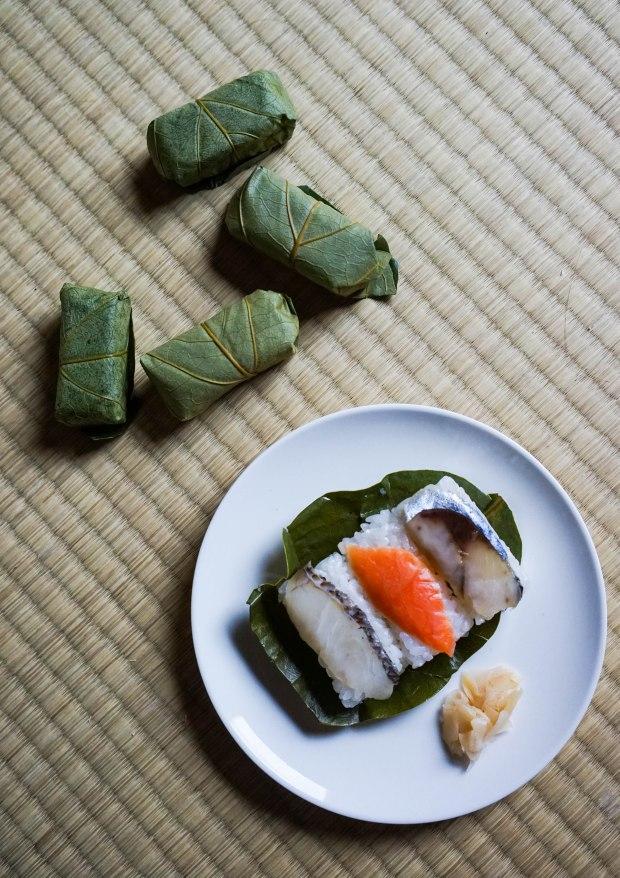 Persimmon Leaf Sushi
