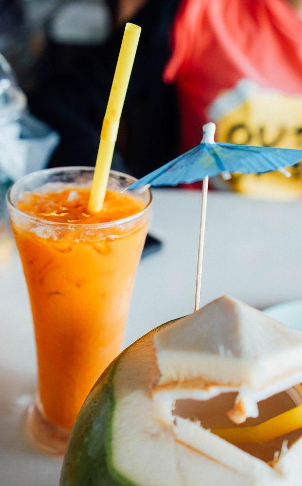 No. 6 Restaurant Patong Phuket Thai Iced Milk Tea