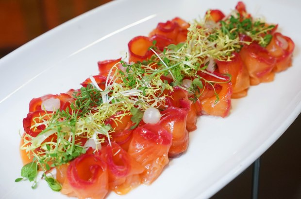 amara hotel 100am mall Homemade Beetroot Salmon
