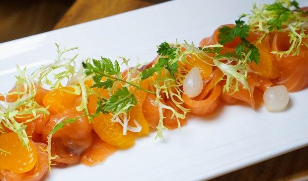 amara hotel 100am mall Homemade Mandarin Orange Salmon