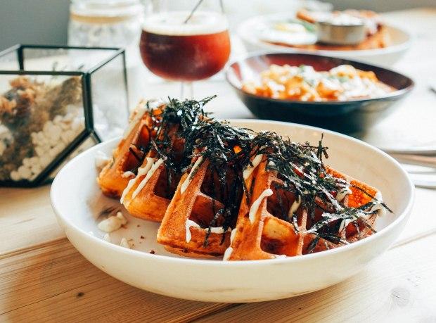 montana-kimchi-seafood-waffle