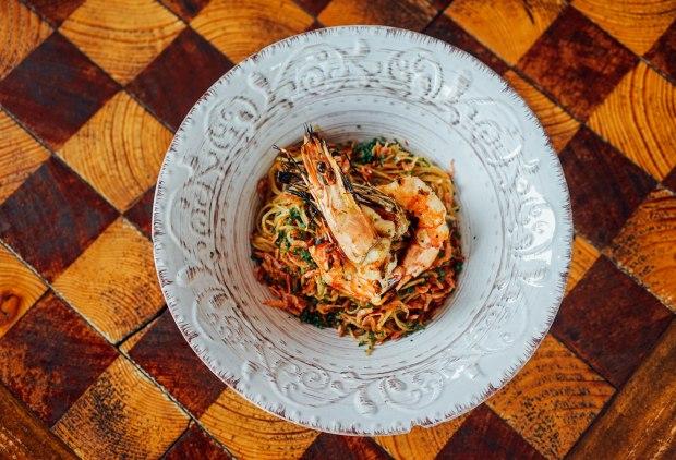firebake-australian-prawn-capellini-aglio-olio-with-sakura-ebi-3