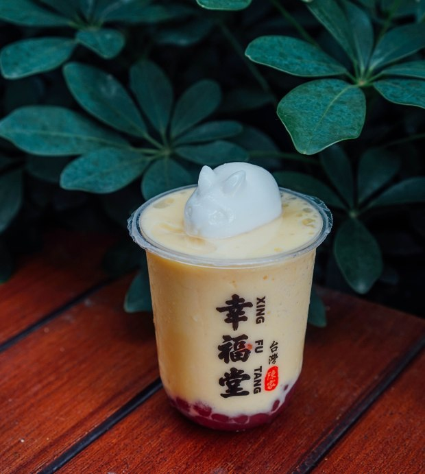 xing-fu-tang Mango Smoothie & Rabbit Panna Cotta