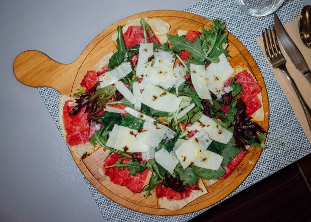 roots-mediterranean-salami-and-truffle-pizza