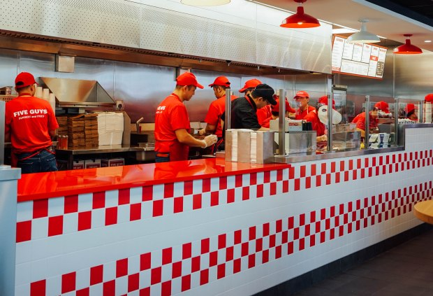 five-guys-singapore-counter