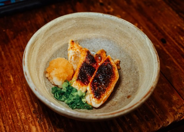 station-front-bar-okura-shiga-grilled-salmon-belly-with-ponzu-sauce