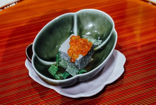 mai-by-dashi-master-marusaya-black-sesama-tofu-with-ikura-in-dashi-stock