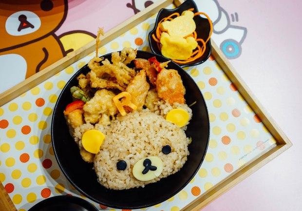 rilakkuma-cafe-Rilakkuma Chill-out Tendon Rice Set