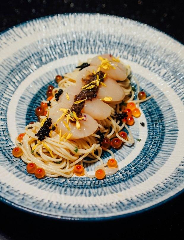 gaku-sushi-bar-angel-hair-truffle-pasts-with-hokkaido-scallop