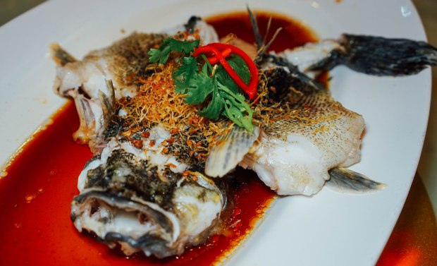 famous-kitchen-cny-Hong Kong Style Steamed 'Live' Marble Goby with Superior Soya Sauce