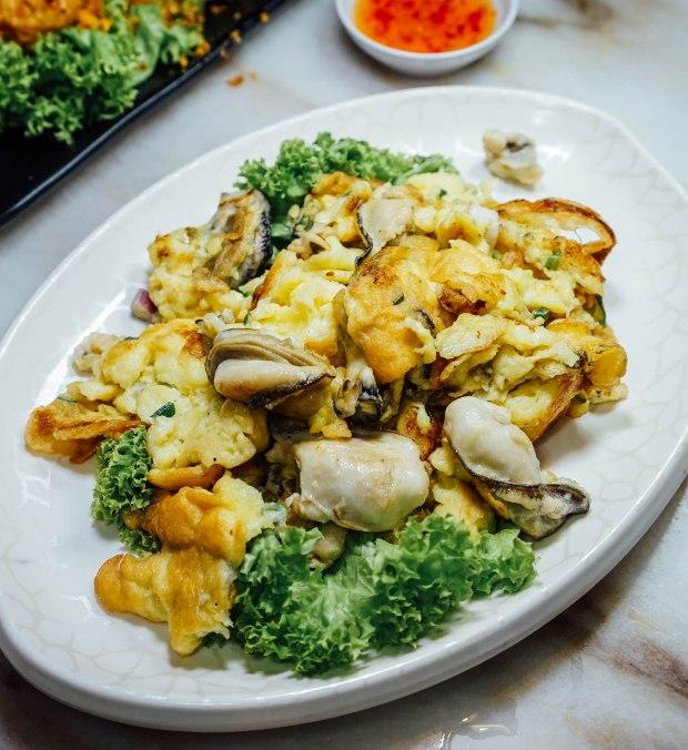 georgetown tze char Live Oyster Crispy Omelette