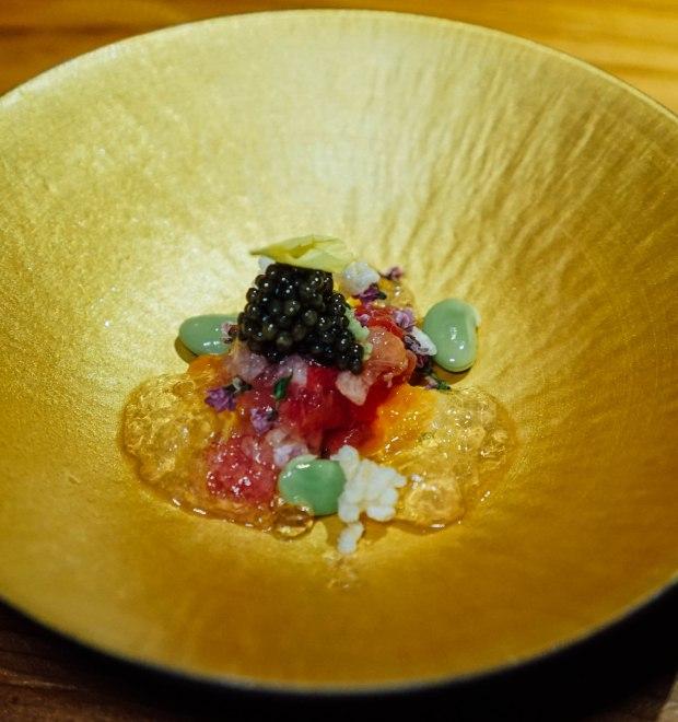 the-bar-kakure-omakase-by-kisho-bluefin-tuna-tartare-with-caviar